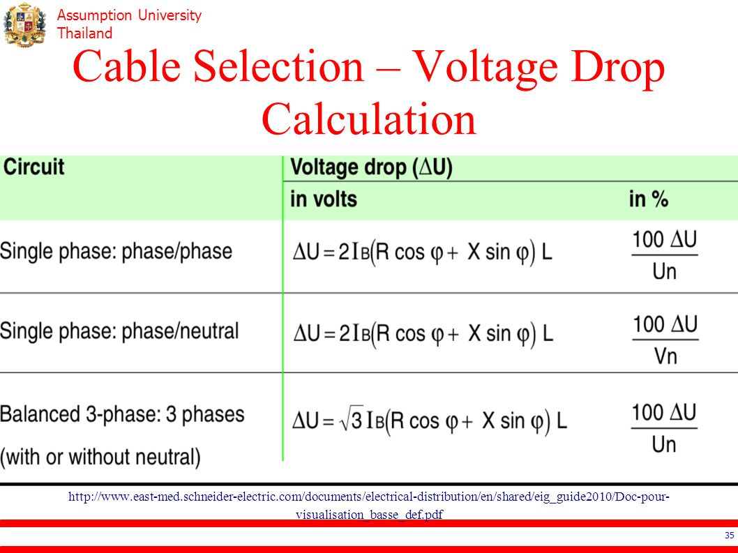 single phase voltage drop formula broadband network diagram ee4503 electrical systems design ppt video online download