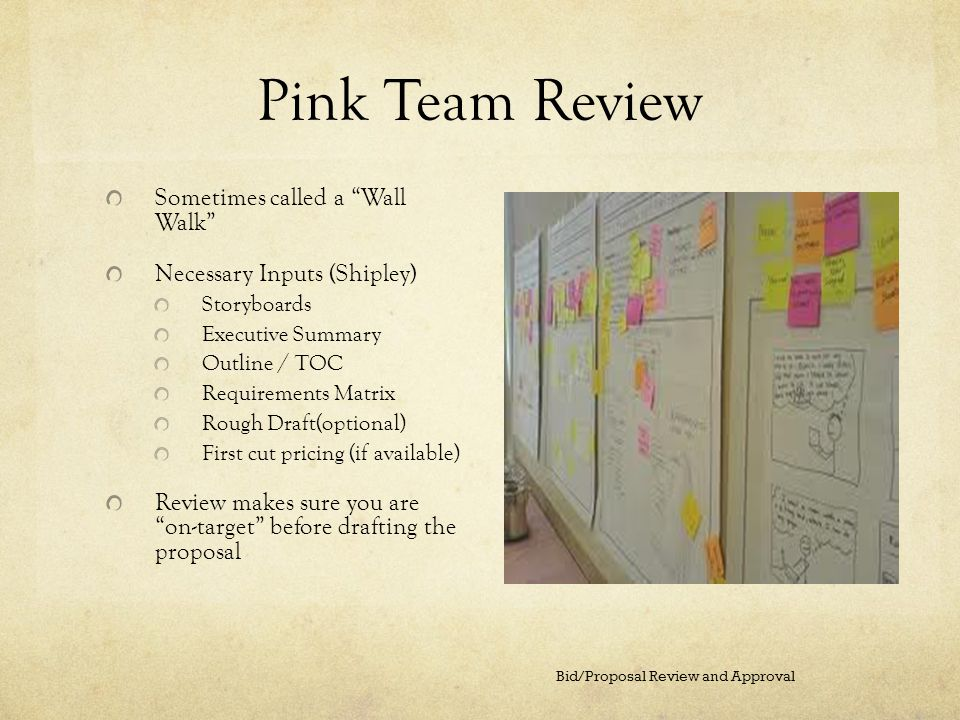 Bid Proposal Review And Approval Ppt Video Online Download