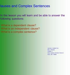 Clauses and Complex Sentences - ppt download [ 986 x 1066 Pixel ]