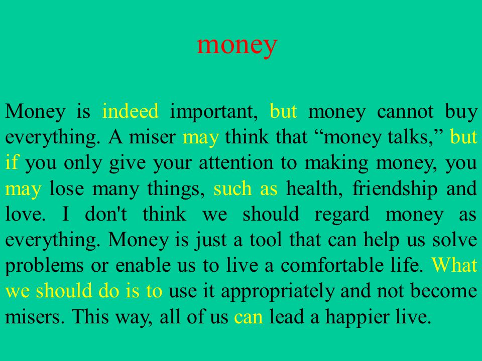 Essay On Money Makes Many Things Writing Help