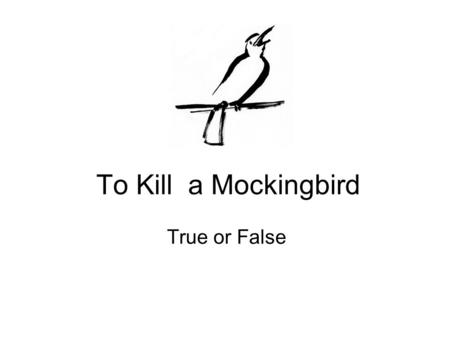 To Kill a Mockingbird Chapter 2-Scout's first day at