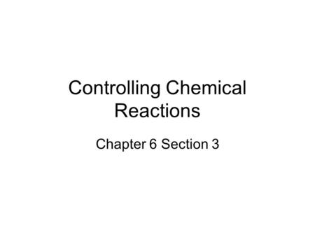 Reaction Rate The rate of a reaction is the speed at which
