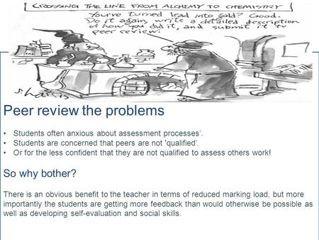 Which of these images best illustrates Peer Assessment
