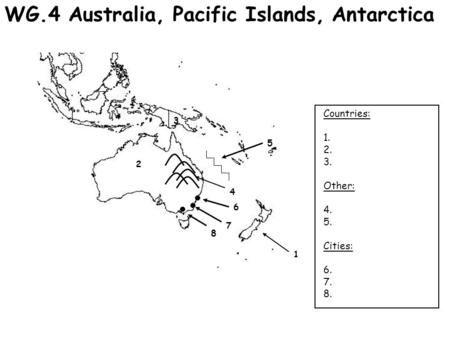 Australia and Oceania Notes. Great Dividing Range Located