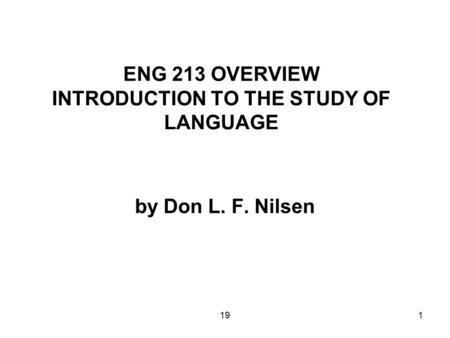 "Sociolinguistics ""Sociolinguistics [is] the study of the"