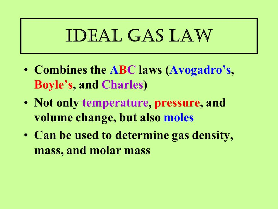 The Gas Laws PV  nRT  ppt video online download