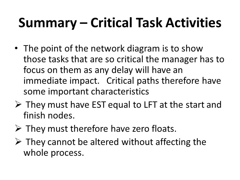 PROJECT MANAGEMENT Network Or Critical Path Analysis Ppt Download