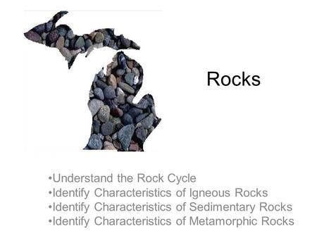 Science Starter Define the following terms: Rock Rock