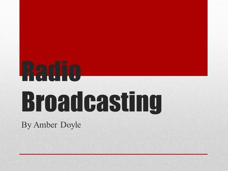Radio in the 1920s Michael W The beginning An Italian