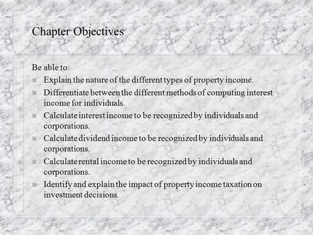 Income Tax concepts: General Concepts Ability to pay