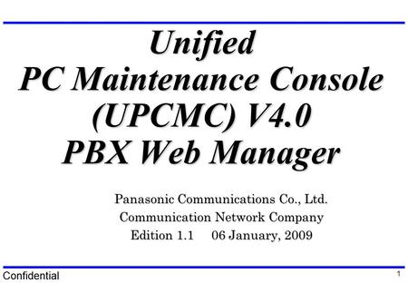 Free download program Panasonic Unified Pc Maintenance