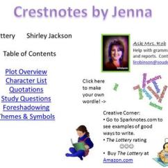 The Lottery By Shirley Jackson Plot Diagram 1997 Jeep Wrangler Wiring Ppt Video Online Download Table Of Contents Overview Character List Quotations Study Questions Foreshadowing Themes