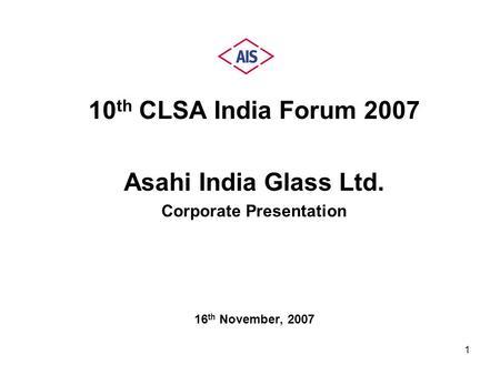 A Capability Presentation by Minda SAI Ltd. (Leading