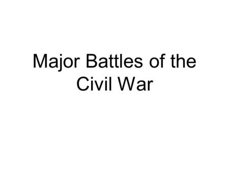 The Furnace of Civil War, 1861– ppt download