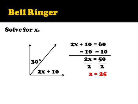 Use straightforward algebraic methods and solve equations