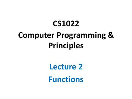 Discrete Math for CS Chapter 5: Functions. Discrete Math