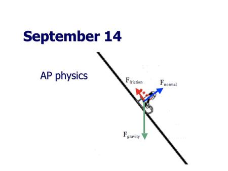 September 24 AP physics. Exam retake… October 1 In: A 20