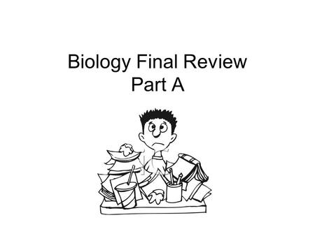 Semester Exam Review Biology. Question #1 Which of the