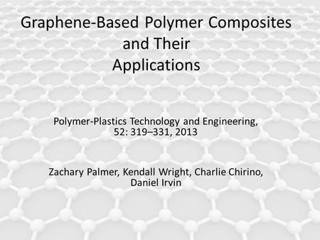 EEE 2056 Physical Electronic Graphene and its application