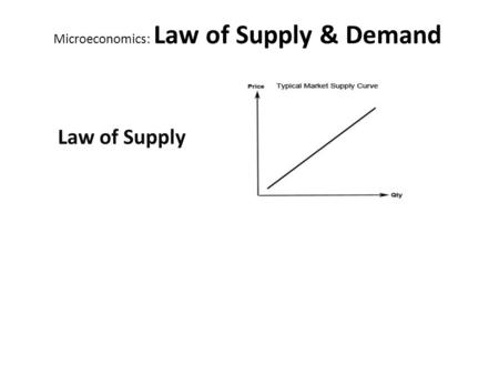 PRICE Equilibrium: the point where demand and supply come