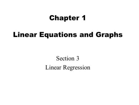 Chapter 3 Test Review. Writing Equations of Lines I can