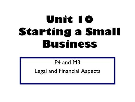 Legal issues when setting up a small business. The owner