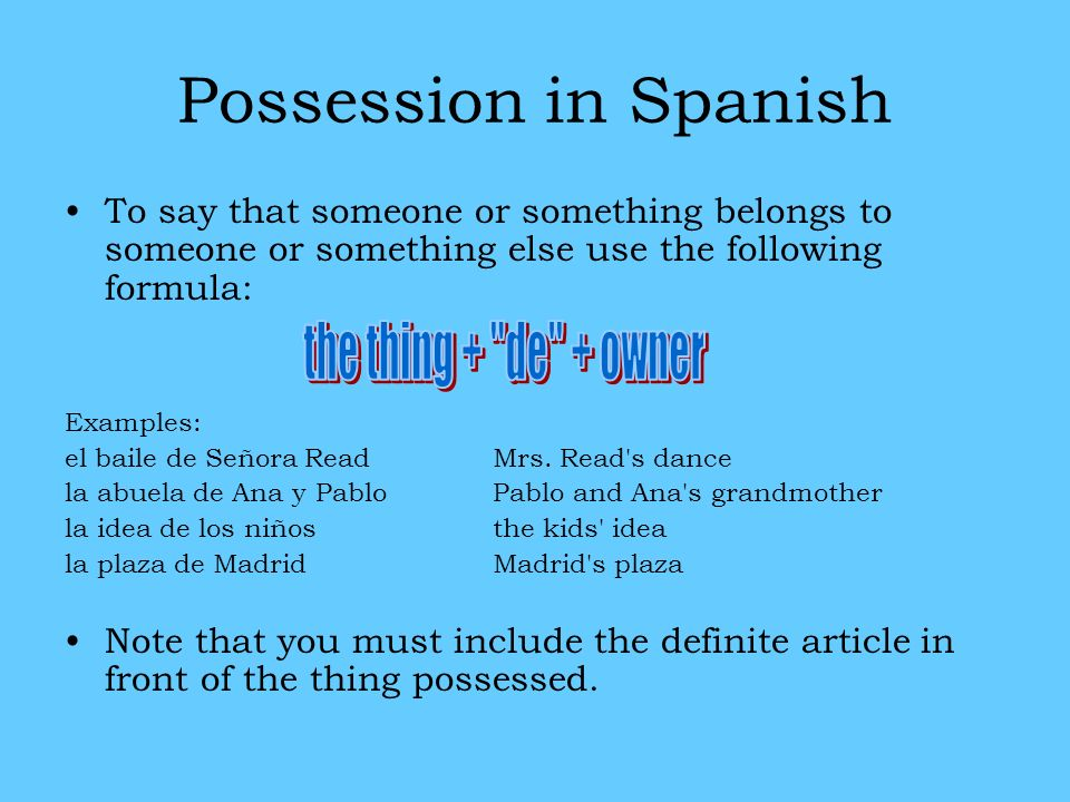 How Say Definition Spanish