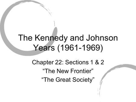 LYNDON BAINES JOHNSON AND THE GREAT SOCIETY JOHNSON LEADS