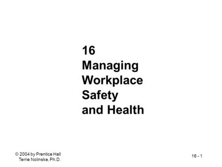 Module 6: Risk Management 7% PHR (16 questions) 7% SPHR