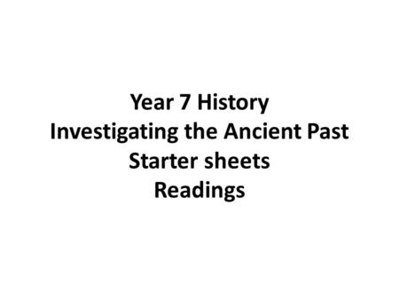Chapter 16. Introduction Archaeology is the study of past