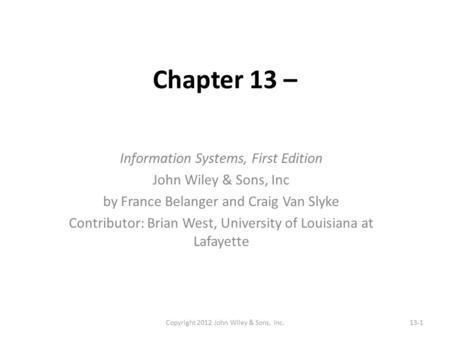 Slide 10.1 Chaffey et al., Digital Marketing: Strategy