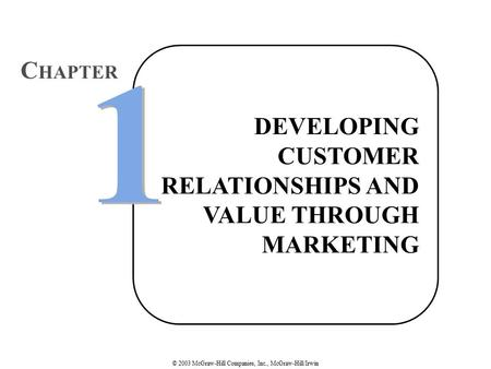 Part One Strategic Marketing and Its Environment 1 1