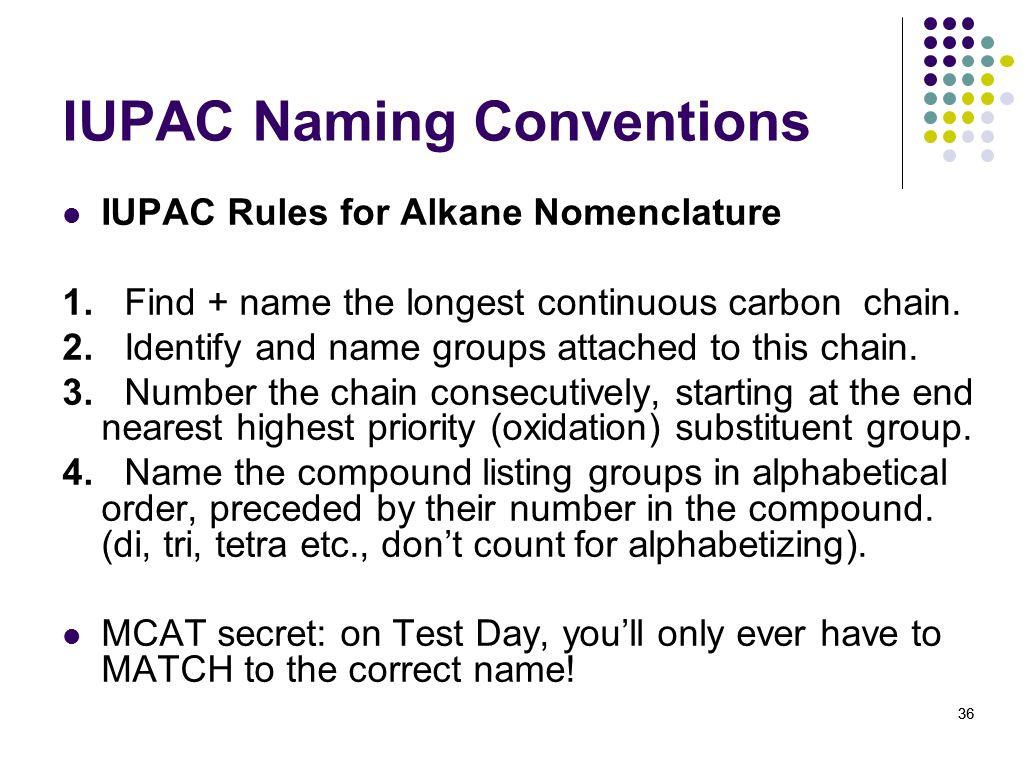 Iupac Naming Organic Compounds Quiz