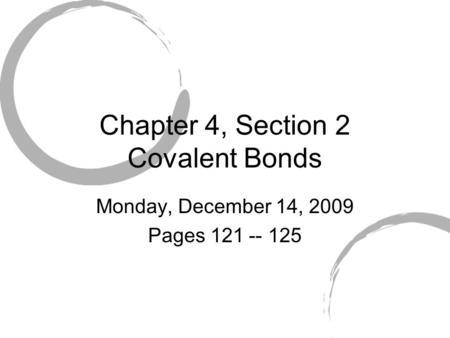 Covalent Bonds: Notes ppt video online download