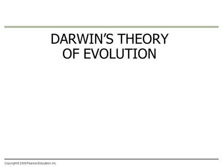 Change overtime: how populations evolve. Isn't Evolution