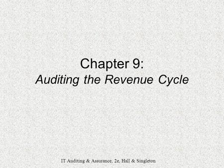 Chapter 5-1 Accounting Information System The Expenditure