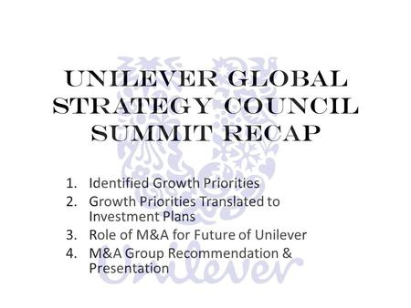Transnational Strategies Current and Future Strategies