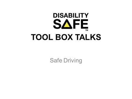 Journey Management Toolbox Talk ppt video online download