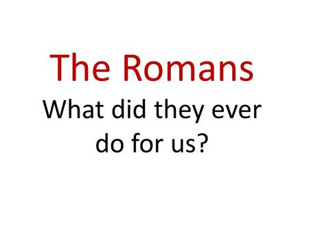 Year 3: What did the Ancient Greeks ever do for us? KS2