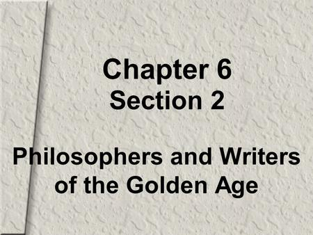 1 UNIT 2 CIVILIZATIONS OF THE MEDITERRANEAN WORLD CHAPTER