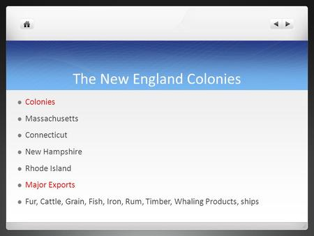 The New England Colonies Chapter 6 section 1 Pages ppt