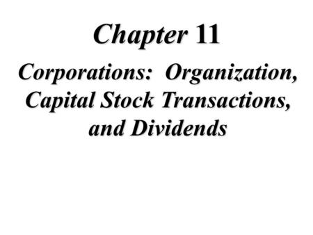 15 Chapter Stockholders' Equity Intermediate Accounting