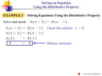 Printable Worksheets  Solving Equations With Distributive ...