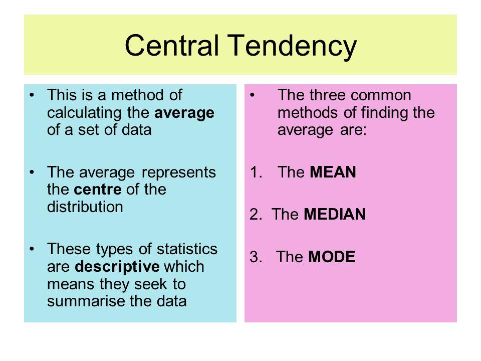 Central Tendency Statistics - Idee per la decorazione di interni