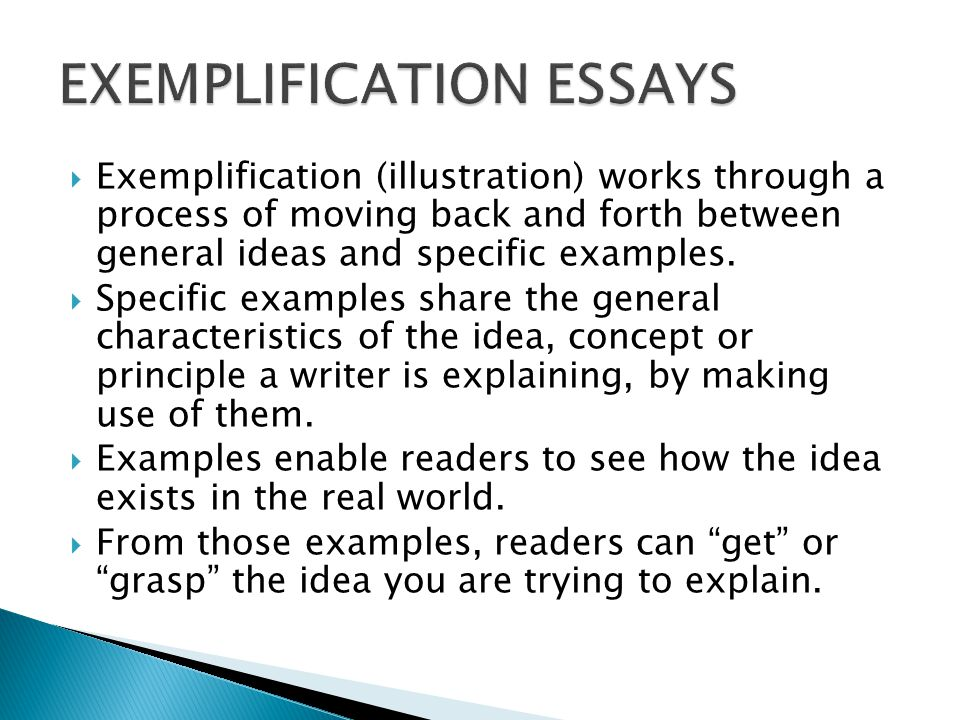 examples of exemplification essay