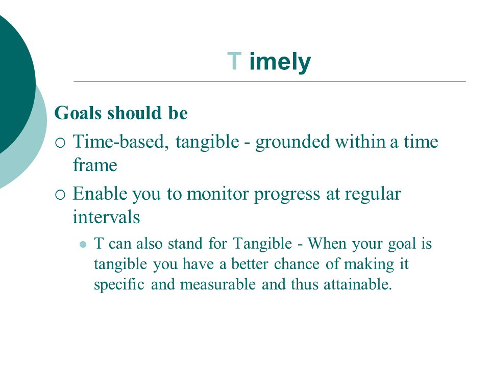 Image result for Goals should be in atime