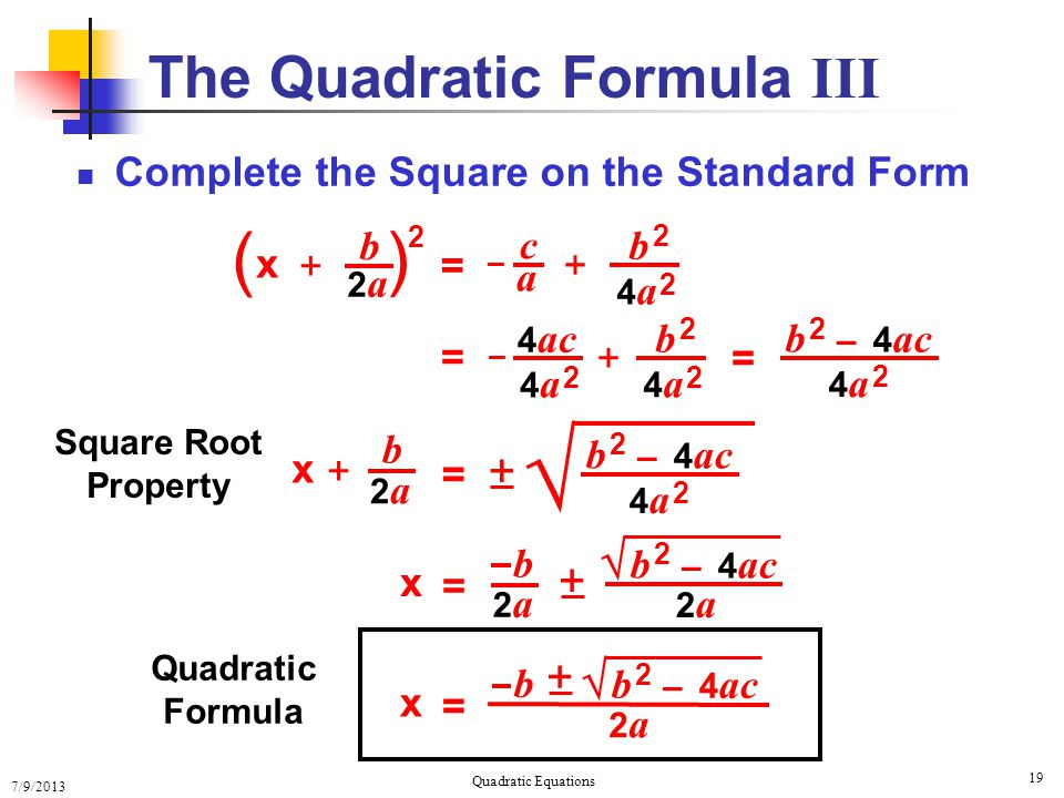 Solving Quadratic Equations Completing The Square Examples