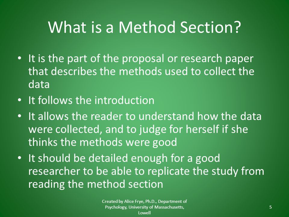Writing A Method Section Ppt Video Online Download
