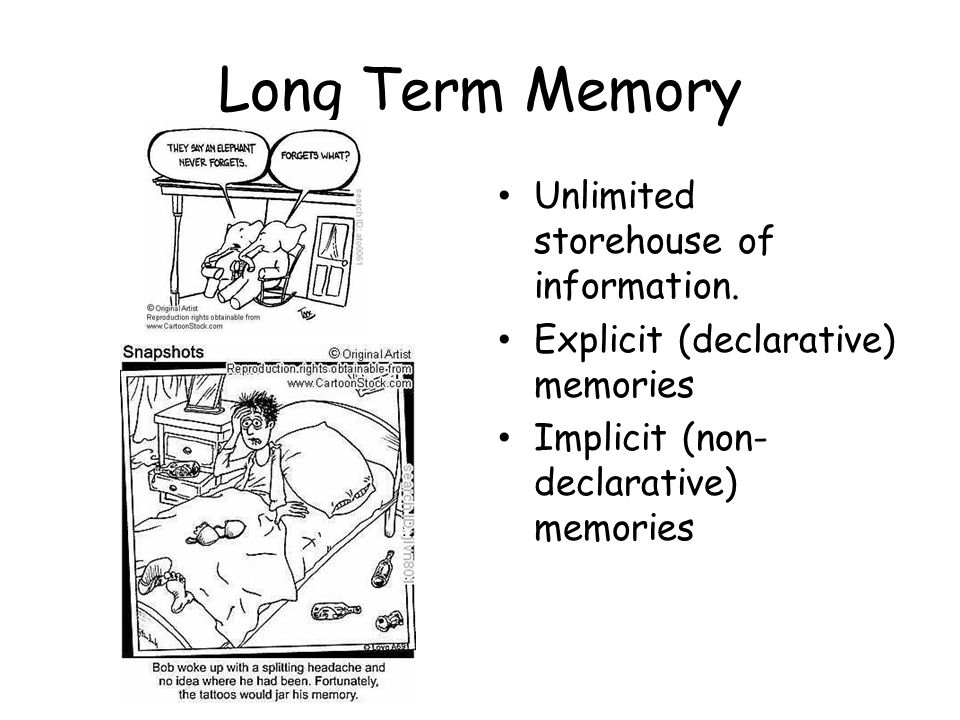 Memory The persistence of learning over time through the