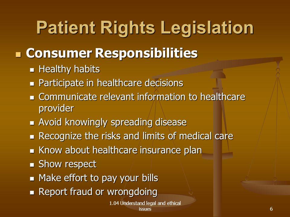 104 Patient Rights Legislation  ppt video online download